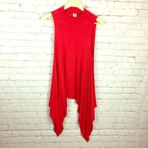 Small asymmetrical blouse in red ❣️